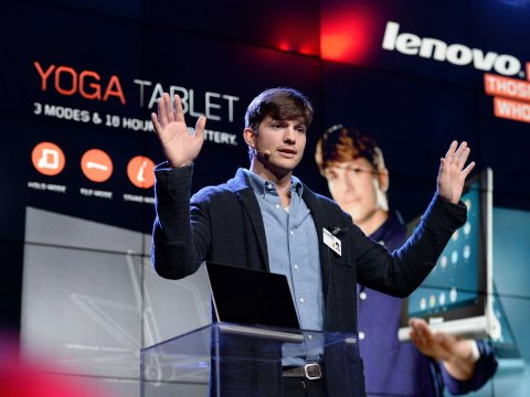 Ashton Kutcher, Steve Jobs, Tablet, Lenovo