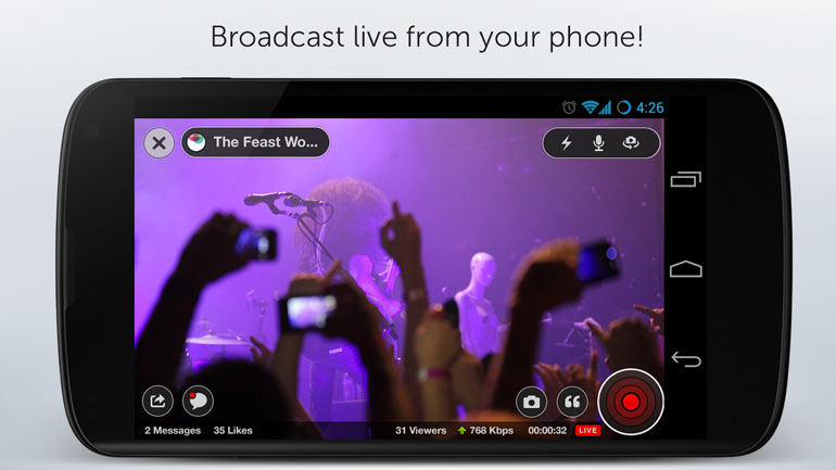 Stream the Concert Live on Your Phone