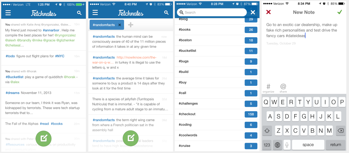 fetchnotes redesign