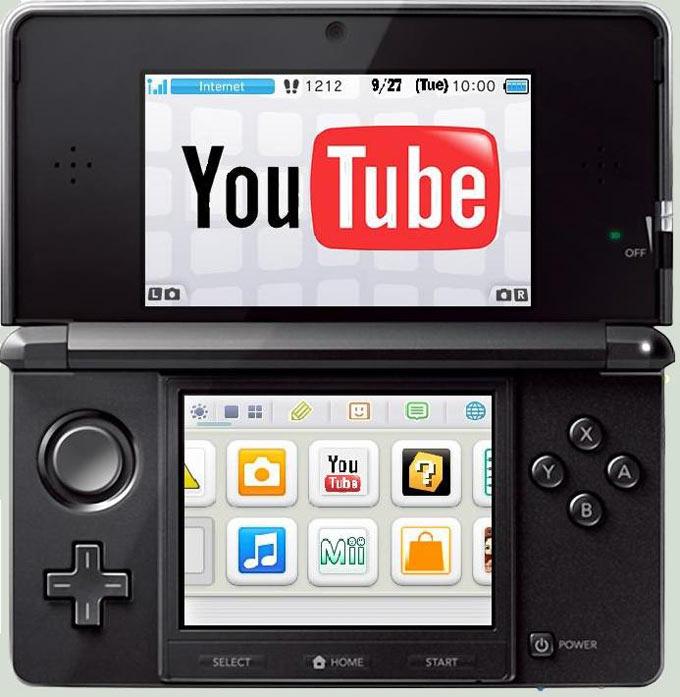 Nintendo 3DS, YouTube