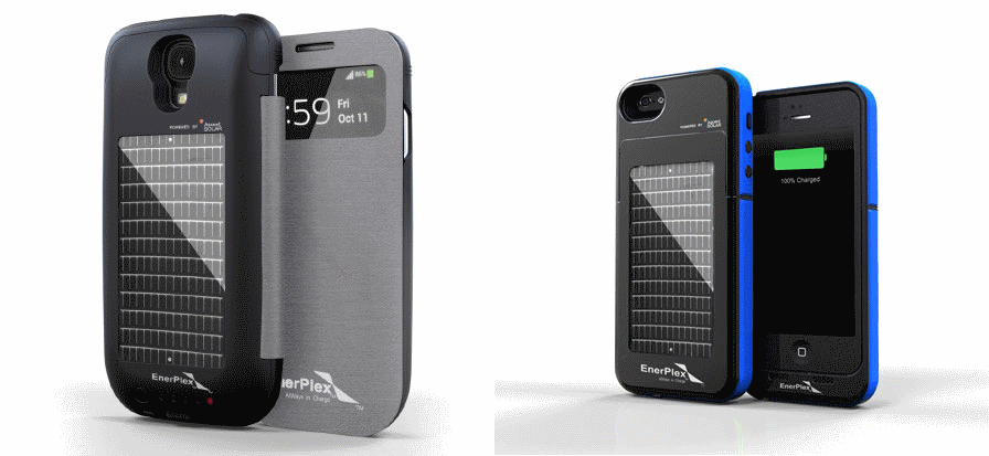 Enerplex Solar And Battery Powered Smartphone Cases