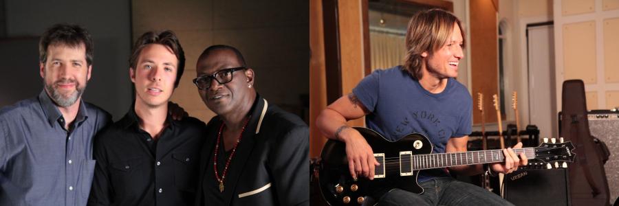 Randy Jackson and Keith Urban
