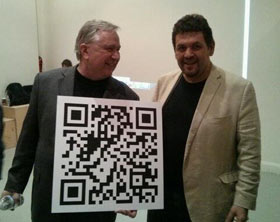 Texas Congressman Steve Stockman and Bitcoin Center founder Nick Spanos (photo: The Bit Pages)