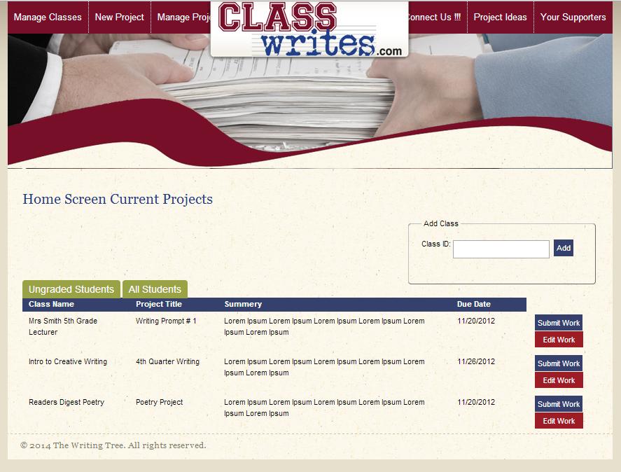 ClassWrites 1