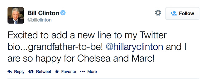 Bill Clinton, Chelsea Clinton, Twitter