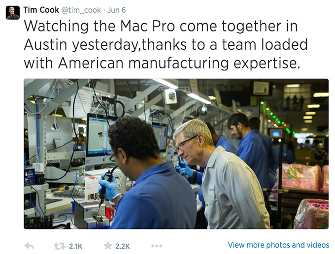 Apple, Tim Cook, Windows, Twitter