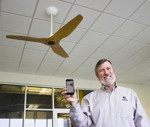 and now the internet of things has come to ceiling fans. Black Bedroom Furniture Sets. Home Design Ideas