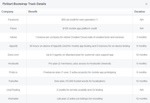 FbStart Bootstrap Track Benefits