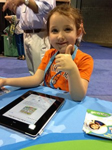6 year old Tatum gives her thumbs up about Tales2go
