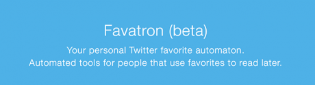 Using Twitter Favorites For Bookmarks? Try Favatron