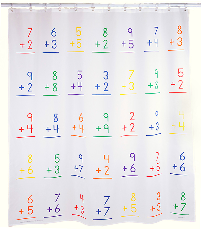 Charming Educational Shower Curtains: An Amazing Analog Learning Tool