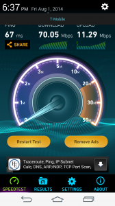 T-Mobile Speedtest wb lte